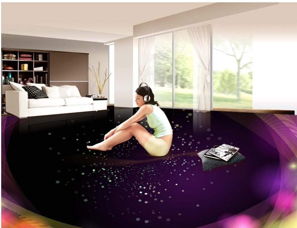 3D stereoscopic Ambilight 3d floor wallpapers 3D stereoscopic wallpaper floor  Waterproof floor mural painting  <br>