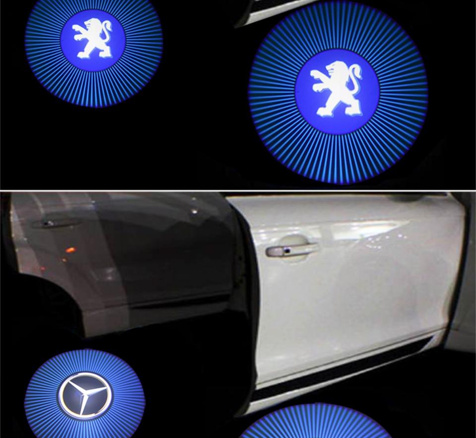 car door light welcome lamp auto decoration bulb car brand logo projector (3)