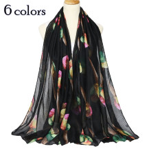 2018 new Scarf ice cream print women scarves shawl fancy volie muslim print scarfs soft muffler lovely shawl woman pashmina(China)