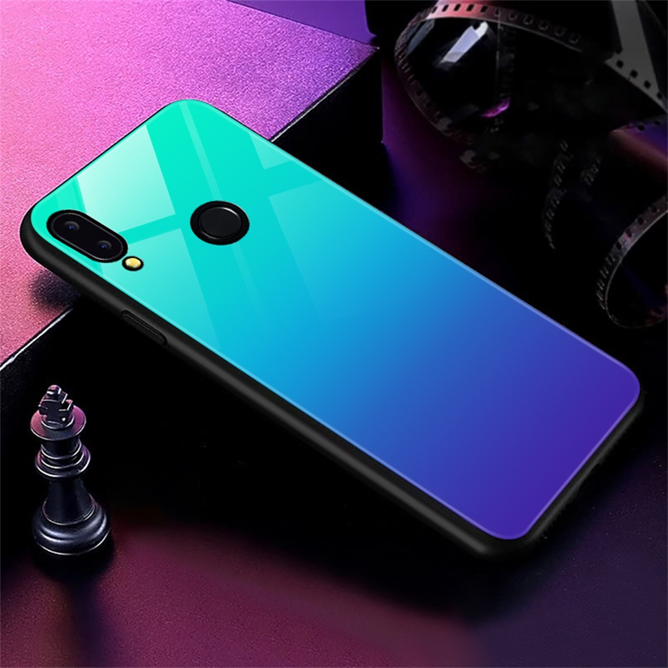 Gradient Glass Back Case For Huawei P20 Lite P Smart Plus Nova 3i Case Luxury Silicone Case For Huawei Honor 10 9 Lite 8X Coque (19)