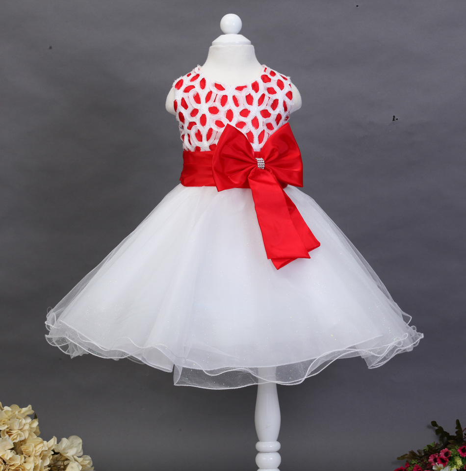 Kids Baby Clothing Girls Princess Birthday Kids Girls Lace Hollow Bowknot Wedding Party Tulle Dress Sleeveless Ball Gown  4<br>