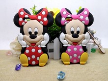 Cheapest 3D Cute Lovely Cartoon Classical minnie mouse  Silicone Soft Cover Back Phone Cases For iPhone 4 4G 4S