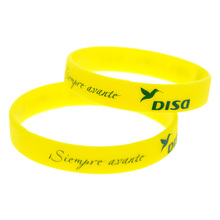 Promo Gift Bulk Cheap Silicone Wristband Printed Logo(China)