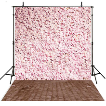 Hot Wedding Photography Backdrop Floral Vinyl Backdrop For Photography Fotografie Pink Wedding Background For Photo Studio