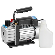 Single Stage Dual Voltage110V/ 220V 60HZ Refrigeration Electric Vacuum Pump 5CFM 1/3HP Rotary Vane Deep HVAC Tool AC R410a R134