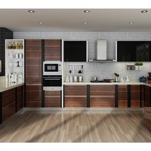 Kenya Modular Project Affordable Modern U-shaped PVC Kitchen Cabinets(China)