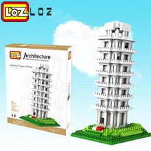 LOZ Tower of pisa Diamond Block World Famous Architecture Series Tuscany Italy City Building Blocks toys Classic toy