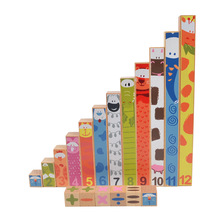 BOHS Montessori Fun Stick 18 Wooden Blocks Mathematics Teaching Aids Family Pack Puzzle Educational Toy Beech Wood High Quality(China)