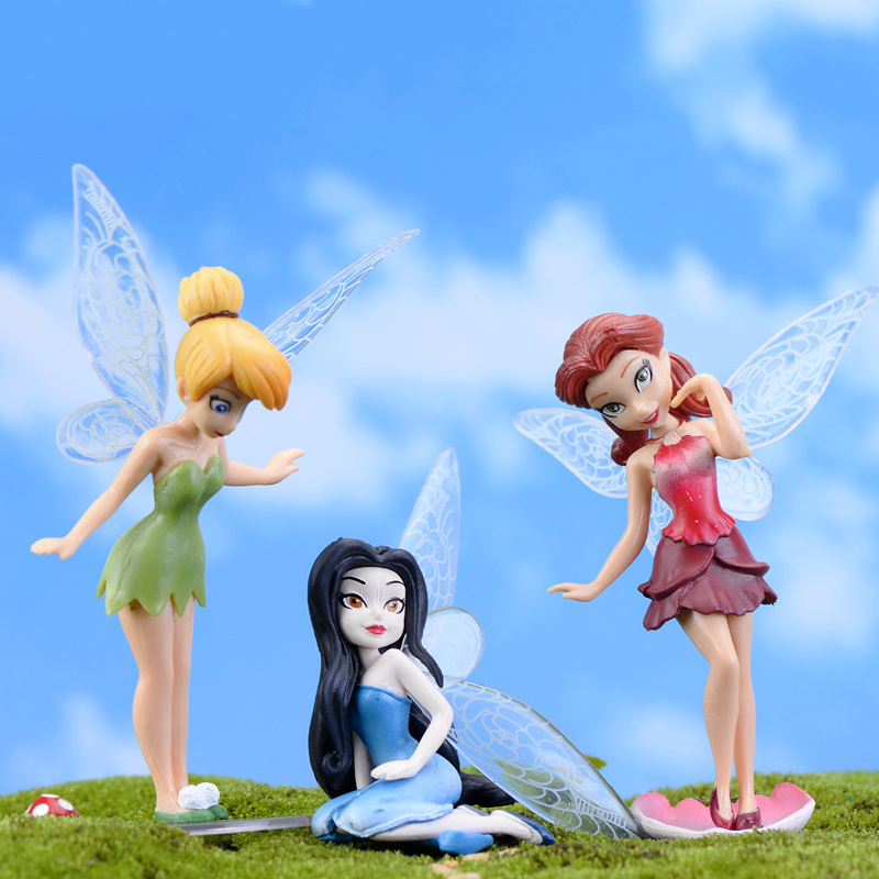 Miniature Dollhouse FAIRY GARDEN ~ Mini CHRISTMAS Angel Figurine White w// Heart