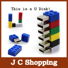 Free Shipping usb flash drive cartoon Boy Toy pendrive building blocks Pen Drive 1G 2G 4G 8GB 16GB 32GB usb Memory Stick U Disk(China)