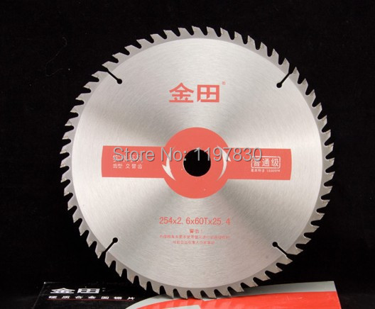 Free shipping of 1pc wood cutting 10(250mm)*25.4*2.6mm*60z TCT saw blade with OKE carbide for hard wood/MDF/poly panel/cutting<br><br>Aliexpress