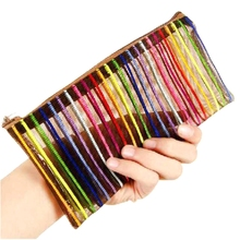 Sent At Random Transparent Cosmetic Bag Multicolor Make Up Bag Toiletry Kit Women Trend Travel Makeup Bag Necessarie(China)