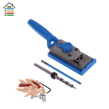 Woodworking Pocket Hole Jig Kit Set 9.5mm Drill Guide Sleeve For Kreg Pilot Wood Drilling Dowelling Hole Saw Master System(China)