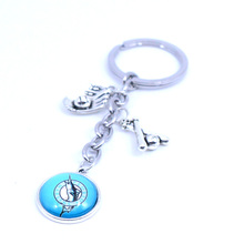 Baseball Keychain MLB Florida Marlins Charm Key Chain Car Keyring for Women Men Party Birthday Keyrings Gifts New 2017