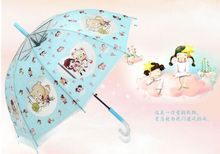 creative children bear rods Apollo crystal handle transparent umbrella