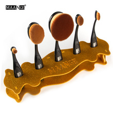 MAANGE 5 Hole Makeup Toothbrush Oval Brushes Acrylic Display Holder Stand Storage Organizer Brush Dryer Showing Rack Holder Tool
