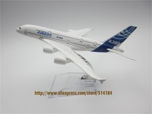 16cm Alloy Metal Prototype Airbus A380 Airlines ProtoMech Development Aircraft Airplane Model Plane Model W Stand  Gift
