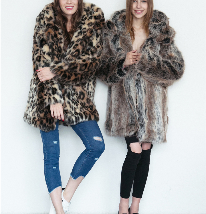 2017 autumn and winter new foreign trade popular animal ear hat imitation fur coat female wild long coat warm jacket1