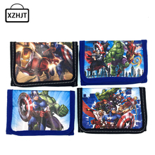 Hot Sale Cute Cartoon Coin Purse Children Zip Change Purse Wallet Movie The Avengers Kids Girl Women Pouch Bolsa