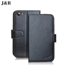 Leather cover For Fly Cirrcus 4 (FS507) FS 507 5 inch case Kickstand Card Phone Bags For Fly FS507 cover&Wallet Protective(China)