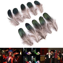 Rooster feathers 50pc/100pcs Mountain feather DIY accessories stage prop festive Party mask clothes carnival Decoration supplies
