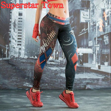Cosplay Harley Quinn Women Traning Leggings Skinny Fitness Pants Customs Superstar Town(China)