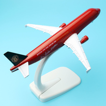 A320 Asia United Airlines 16cm alloy aircraft model aviation model children's gifts furniture decoration decoration collection(China)