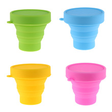 Travel Portable Folding Cup Silicone Collapsible Water Cups Colorful Retractable Tumblerful Soft Outdoor Drinking Cup(China)