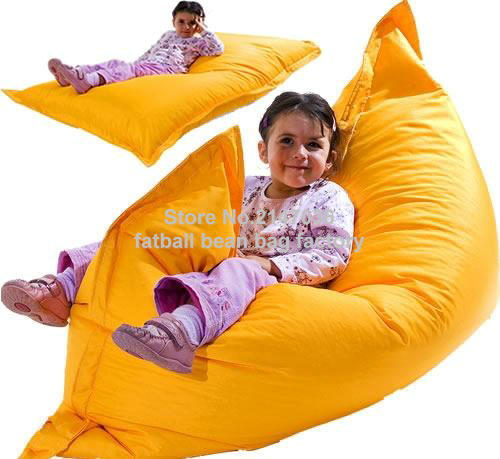 External home bean bag chair, children portable and easy sofa beanbag beds - 40inch x 52inch big size sac<br>