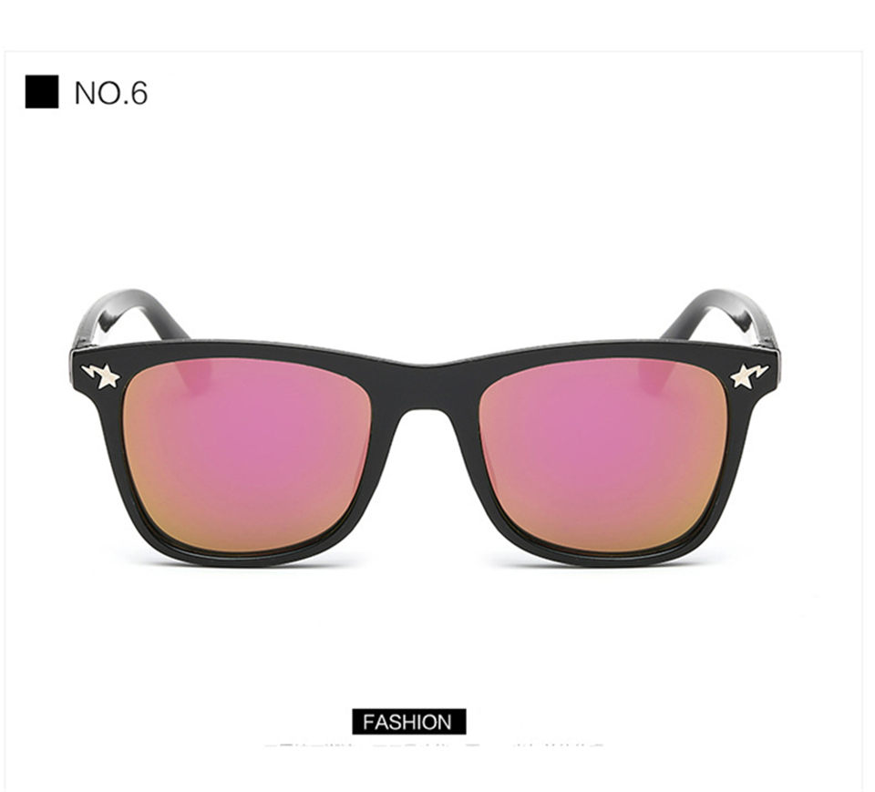 Fashion Kids Sunglasses lovely Sunglasses Mosaic Boys Girls Pixel Eyewares With Case Children Gift (13)