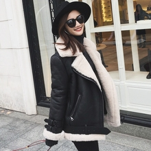 Women Winter Genuine Leather Jacket Female Natural Sheep Fur Jacket Sheepskin Coat Real Leather Jacket With Shearling Trim(China)