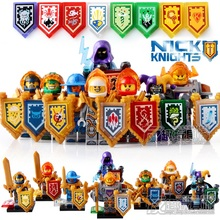 2017 HOT 8/6PCS compatible LegoINGlys Elemental Knights with shields Weapons Action Toy Gift toys for children