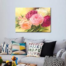 HD Still Life canvas prints Modern peony II Unframed Flowers Painting Home Decoration Living Room Bedroom Decor Wall Fine Art