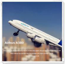 Passenger aircraft model Airbus A380 Boeing 777 Sound and light Pull Back kids toys metallic material Children like the gift(China)