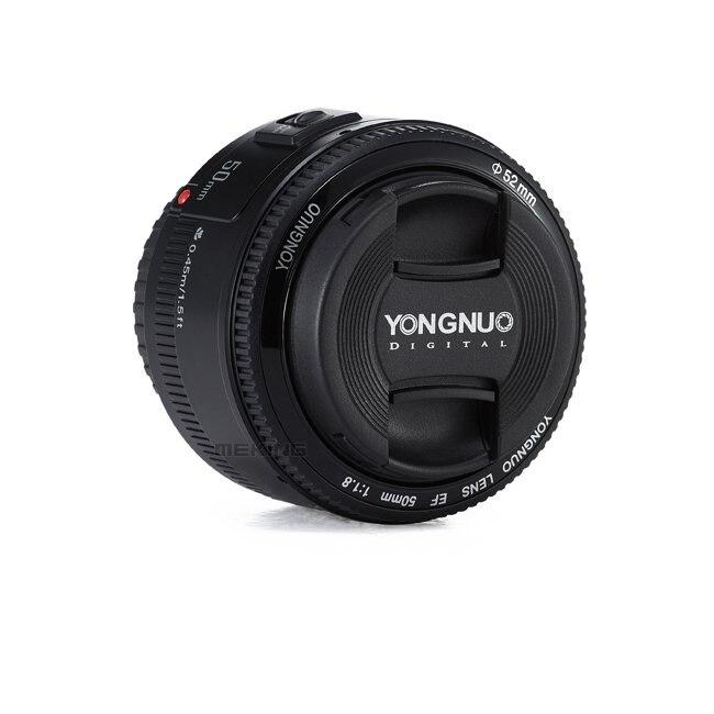 YONGNUO YN50mm F1.8 Camera Lens EF 50mm for Canon Aperture Auto Focus Lenses For EOS DSLR 700D 750D 800D 5D Mark II IV 10D 1300 7