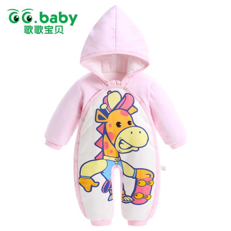 Baby Winter Jumpsuits  Newborn Baby Girls Romper  A Cute Lovely Deer Of Baby Christmas Clothes 2017 New Winter Overalls For Kid<br><br>Aliexpress