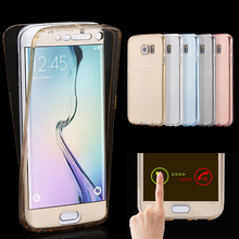 Mobile Phone Case For Samsung Galaxy S4 S5 S6 S7 edge S 4 5 Neo 6 7 Duos Cover Silicon TPU Transparent Ultrathin Casing Etui Bag