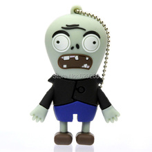 Zombie usb flash True 2GB/4GB/8GB/16GB/32GB Plants vs Zombies horror USB 2.0 flash drive memory pen disk Drop ship dropshipping(China)
