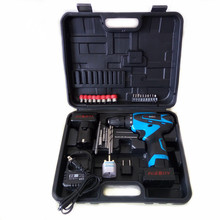 25V Electric Drill Mobile Power Tools Electric Screwdriver Lithium Battery Cordless Torque Drill With Ecarry Tool box suitcase(China)