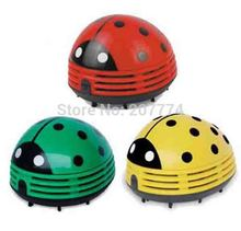 Only for Test Cute Beetle Ladybug cartoon Mini Desktop Vacuum Desk Dust Cleaner collector for home office