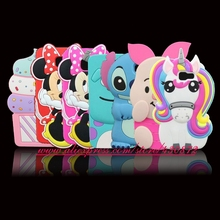 3D Silicon Minnie Unicorn Stitch Pig Cupcake Sulley Cartoon Soft Phone Back Cover Case for Samsung Galaxy J5 Prime / J7 Prime(China)