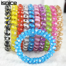 TS 10pcs Super Big Size women headdress head flower hair accessories hair ring hair rope candy-colored telephone wire