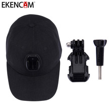 EKENCAM Adjustable Canvas Sun Hat Cap with J-Holder Mount for EKEN GOPRO Hero 6 SJCAM SJ7 SJ6 SJ4000 SJ5000 Cameras Accessories(China)