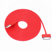 High Quality 3M 10FT 30pin USB Cable Date Sync Charger Cable For Apple iphone 4 4S 3G 3GS ipod Power Transfer Standard