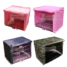 Waterproof Polyester Dog Cat Cage Cover Outdoor Pet Kennel Crate Cover Durable Puppy Cat Cage Cover Blanket Breathable Pet House(China)