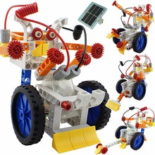 New DIY 4 In 1 Solar Power Building Blocks Robot Kits Educational Toy Assembled Toys For Kids Car Animal DIY Robot Toys(China)