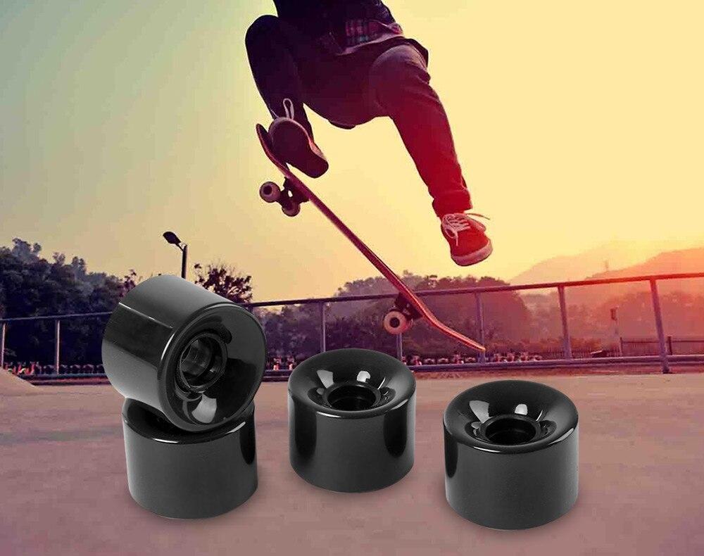 Top of top store 4pcs 70 x 51MM Outdoor Sport Skateboarding Skateboard Wheel Skate Board Bearing Cruiser Longboard Axle
