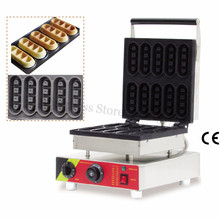 Bar-type Small Waffle Baker Machine Stainless Steel Mini Waffle Maker with 10pcs In One Tray Nonstick Cooking Surface(China)