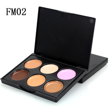 Beauty 6 Color Makeup Concealer Make up Cream Contour Palette Face Foundation Cosmetic Hide Blemish  Acen Lip Dark Eye Circle