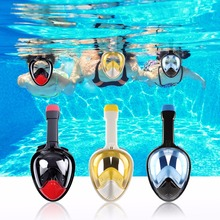 Anti Fog Diving Mask Snorkel Swimming Training Scuba mergulho 2 In 1 full face snorkeling mask Gopro Camera Dropshipping(China)